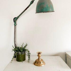 Short brass candle stick holder